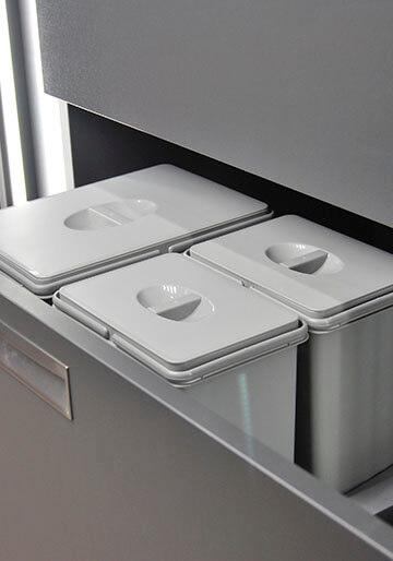 Cajón de cocina para residuos