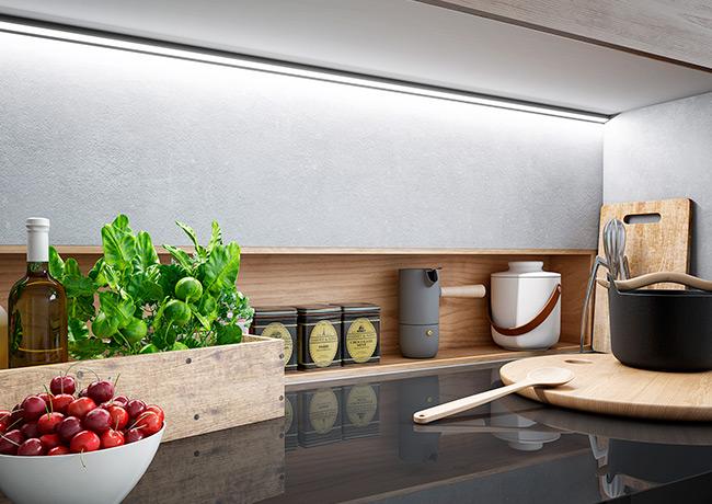 Iluminación LED de encimeras de cocinas