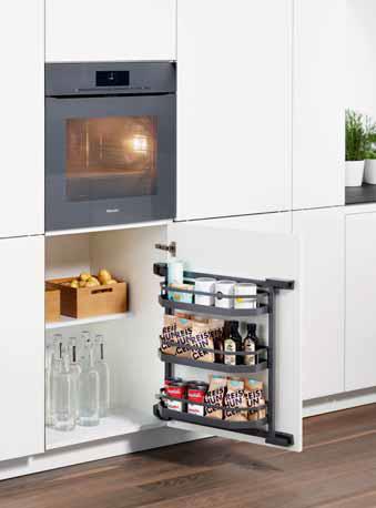 Puerta de mueble de cocina con estantería