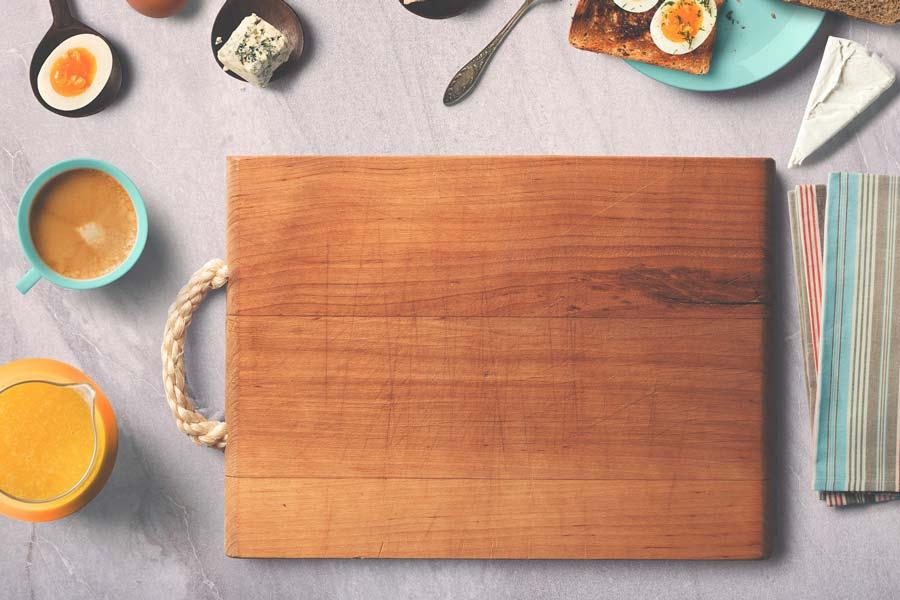 desinfectar la tabla de madera de la cocina