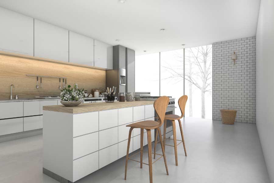Mueble de cocina tipo barra