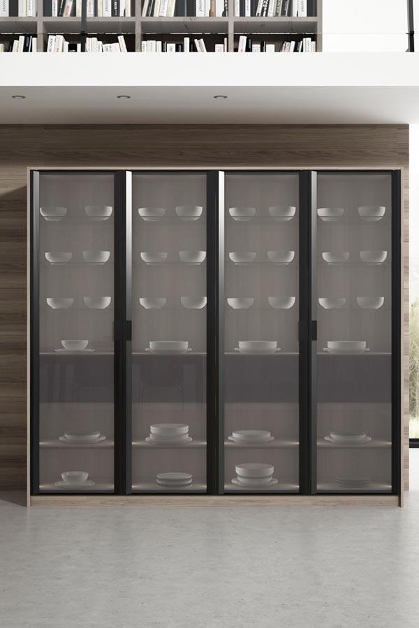 Mueble con vidriera