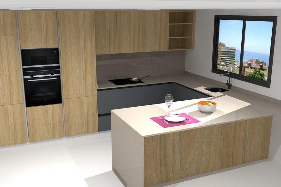 Decoración de madera de la cocina