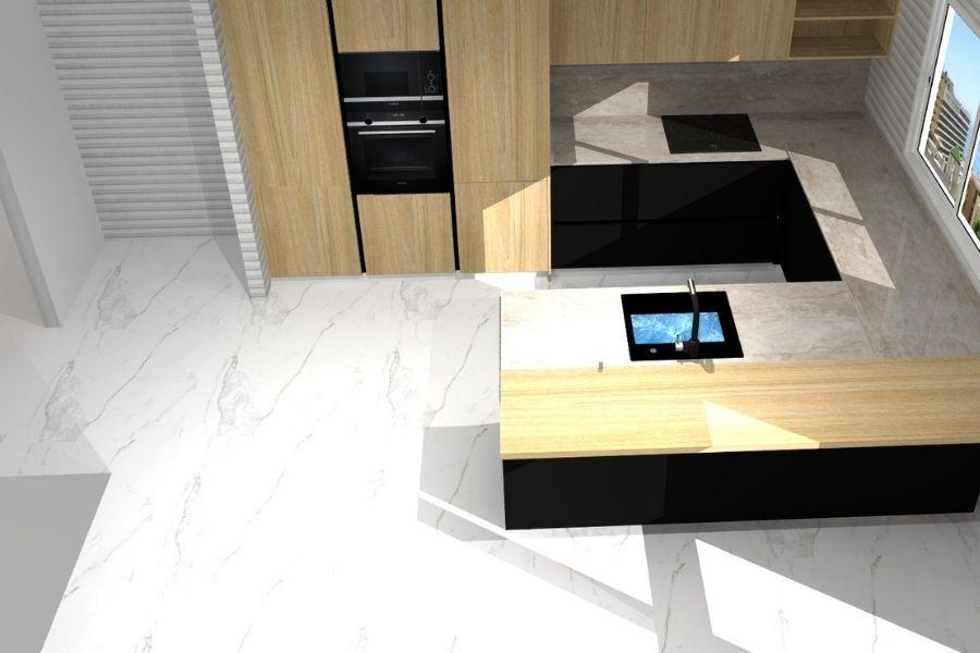 Vista superior de la cocina