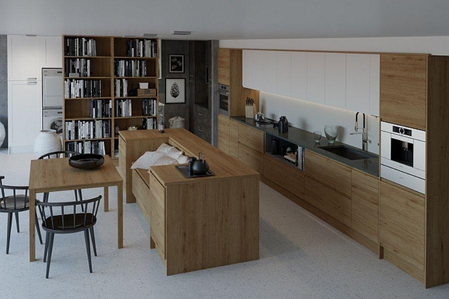 Tendencia del uso de madera para la cocina, ya sea natural o de imitación